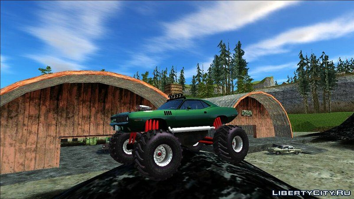 Машина Plymouth Plymouth Hemi Cuda Monster Truck 1971 для GTA San Andreas
