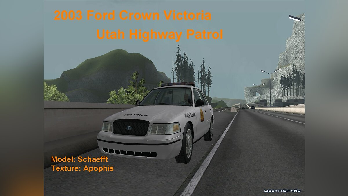2003 Ford Crown Victoria Utah Highway Patrol для GTA San Andreas