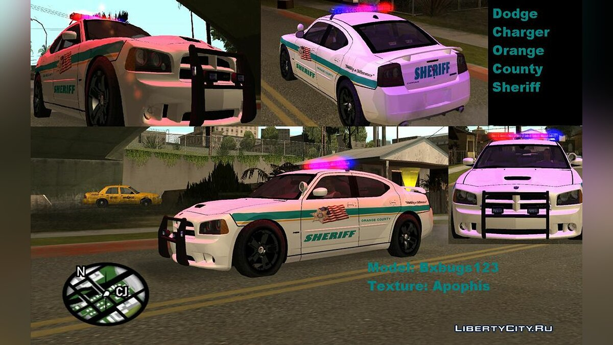 Dodge Charger Orange County Sheriff для GTA San Andreas