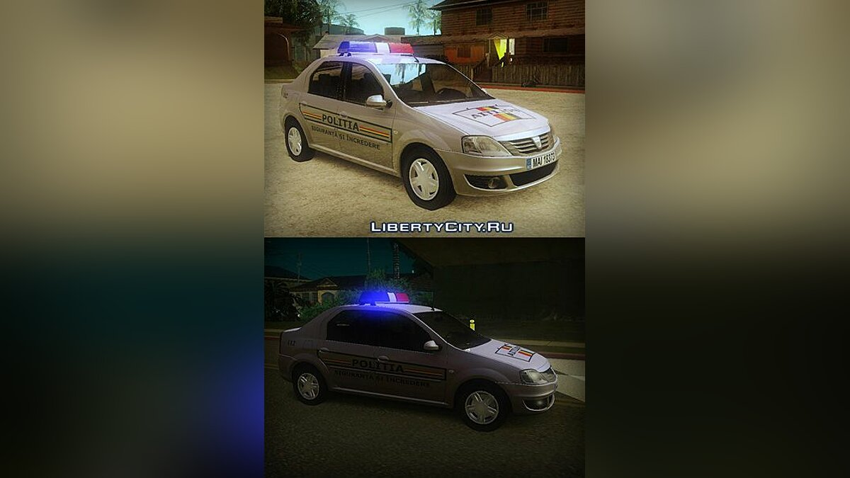 Dacia Logan 2008 Romania Police Car для GTA San Andreas