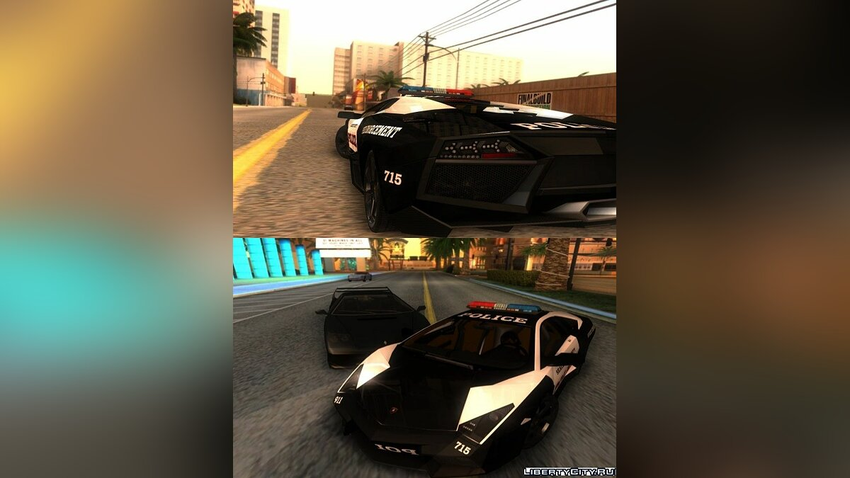 Reventon The Speed Enforcer для GTA San Andreas