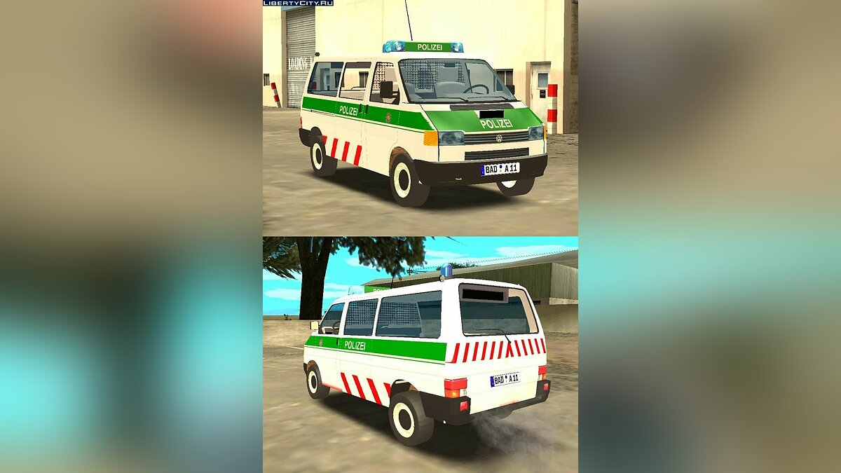 Volkswagen T4 German Polizei для GTA San Andreas