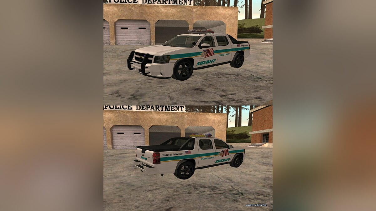 Chevrolet Avalanche Orange County Sheriff для GTA San Andreas
