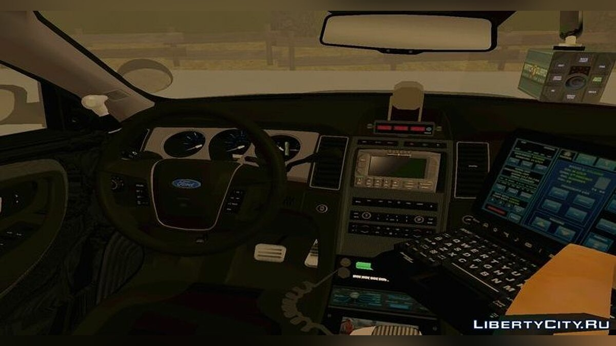 2013 LASD Ford Taurus Interceptor для GTA San Andreas - скриншот #2
