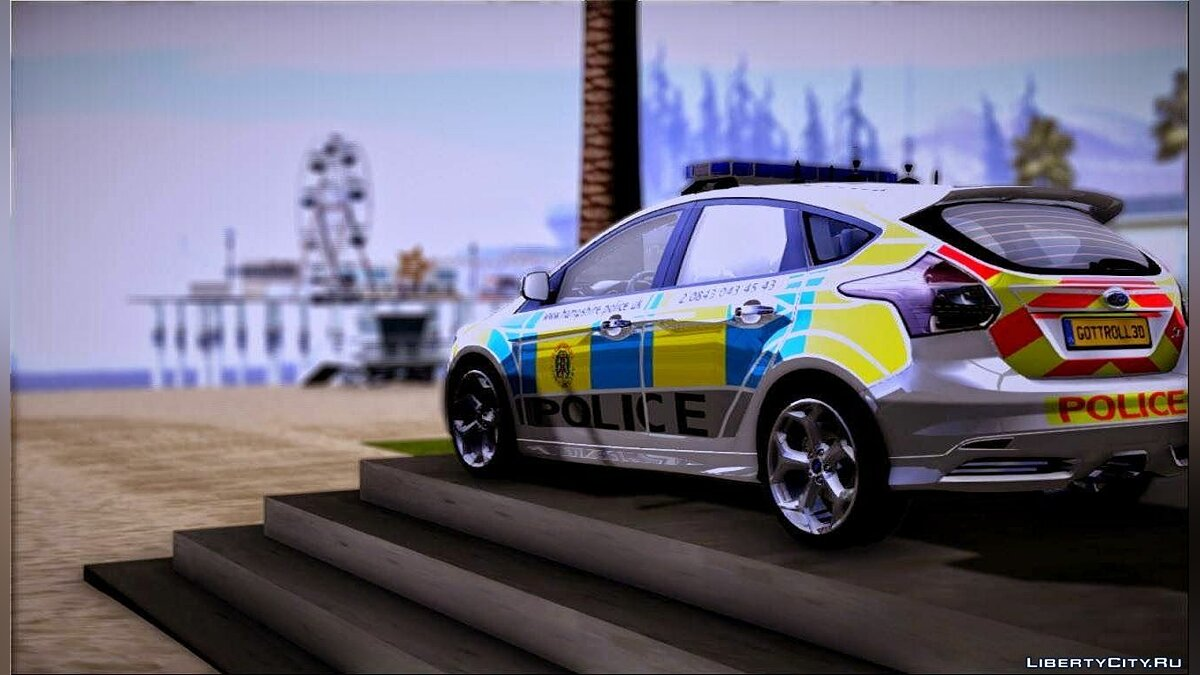 2013 Ford Focus ST British Hampshire Police для GTA San Andreas - скриншот #3
