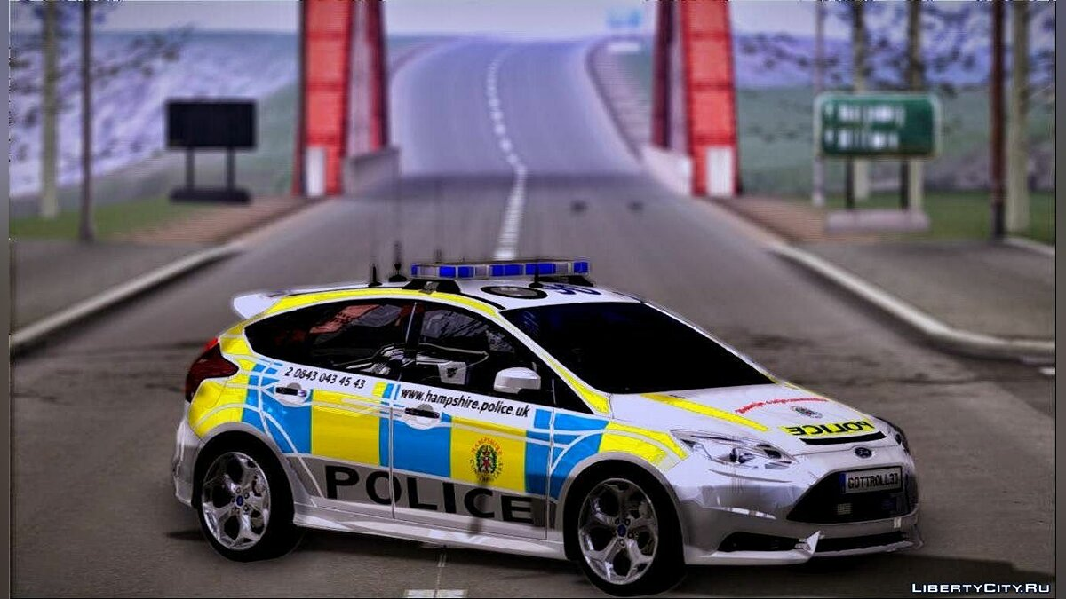 2013 Ford Focus ST British Hampshire Police для GTA San Andreas
