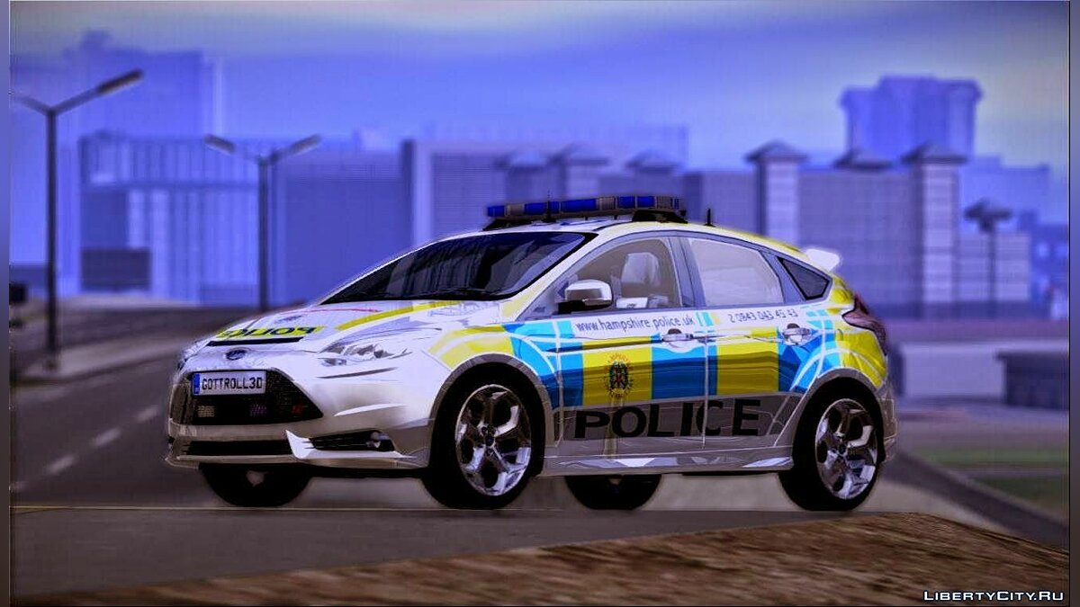 2013 Ford Focus ST British Hampshire Police для GTA San Andreas - скриншот #5