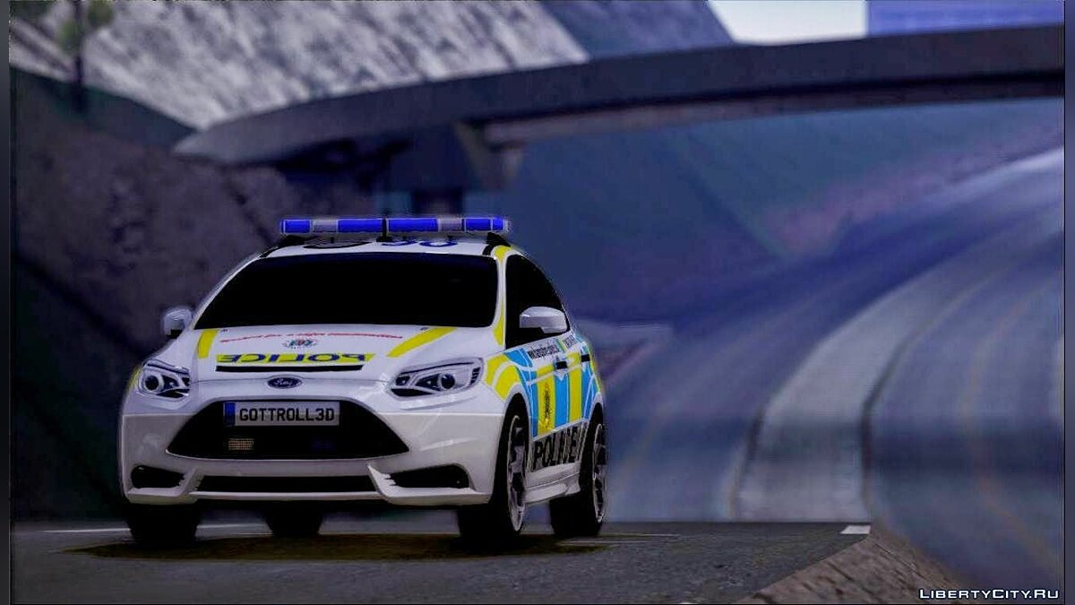 2013 Ford Focus ST British Hampshire Police для GTA San Andreas - скриншот #6