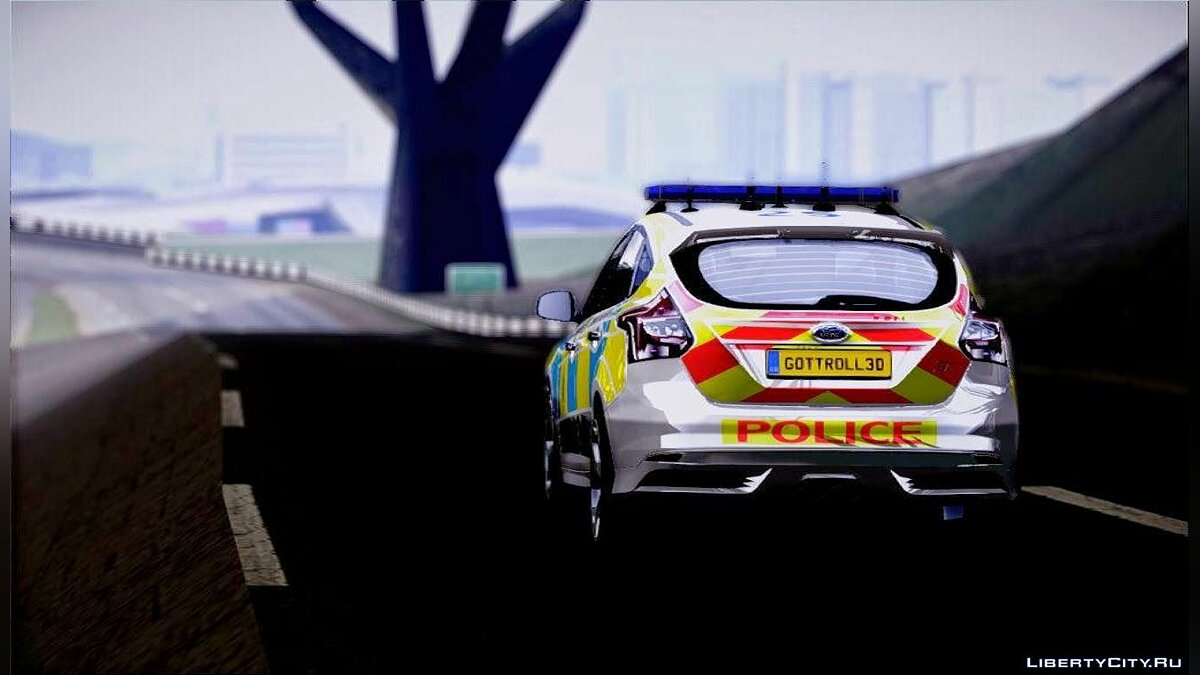 2013 Ford Focus ST British Hampshire Police для GTA San Andreas - скриншот #7