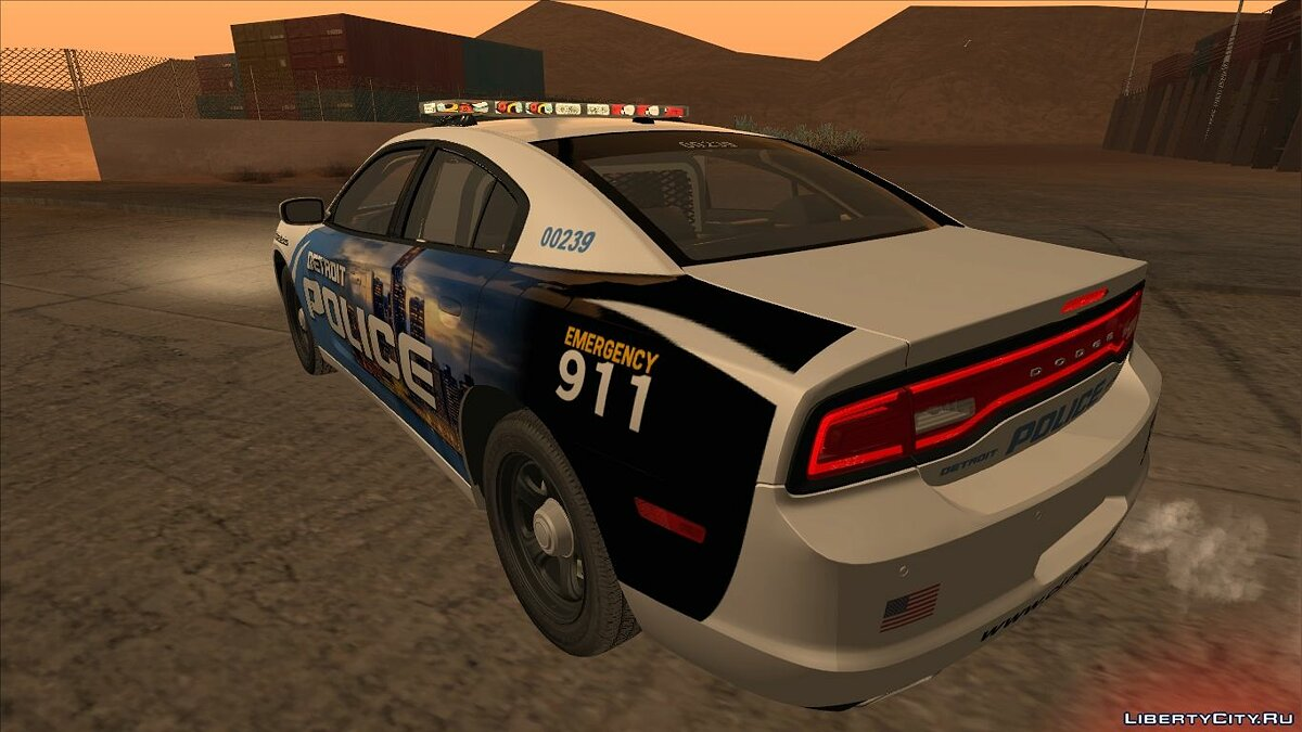 Dodge Charger 2013 Detroit Police для GTA San Andreas - скриншот #5