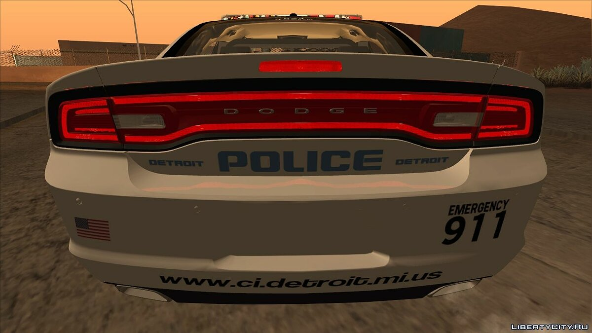 Dodge Charger 2013 Detroit Police для GTA San Andreas - скриншот #3