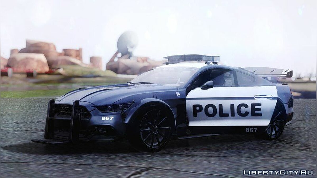 2015 Ford Mustang GT 'Barricade' Transformers 5 для GTA San Andreas - скриншот #2