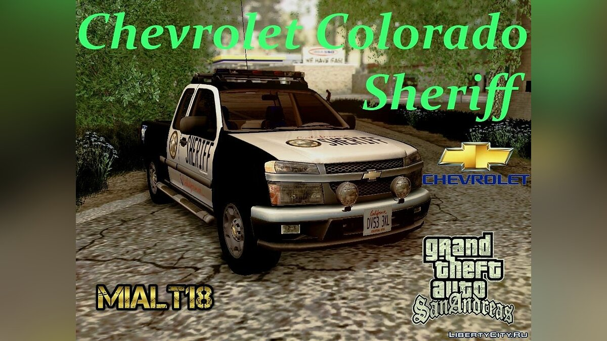 "Chevrolet Colorado ""Sheriff"" для GTA San Andreas"