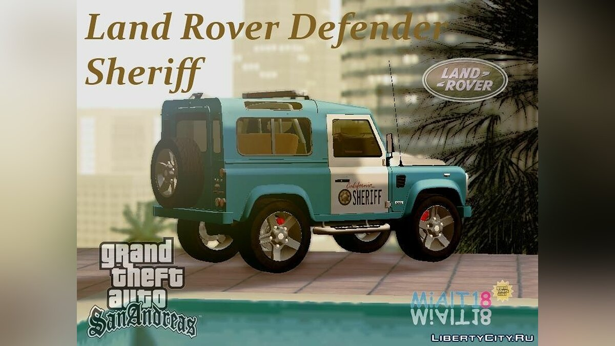 Land Rover Defender Seriff для GTA San Andreas