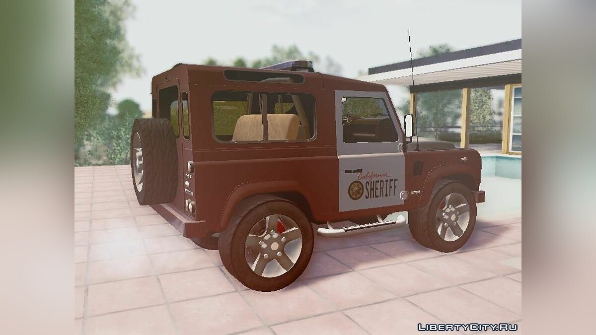 Land Rover Defender Seriff для GTA San Andreas - скриншот #2
