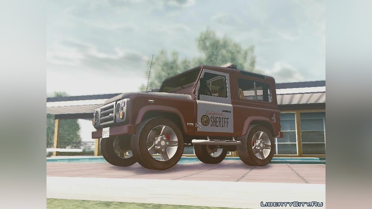 Land Rover Defender Seriff для GTA San Andreas - скриншот #3