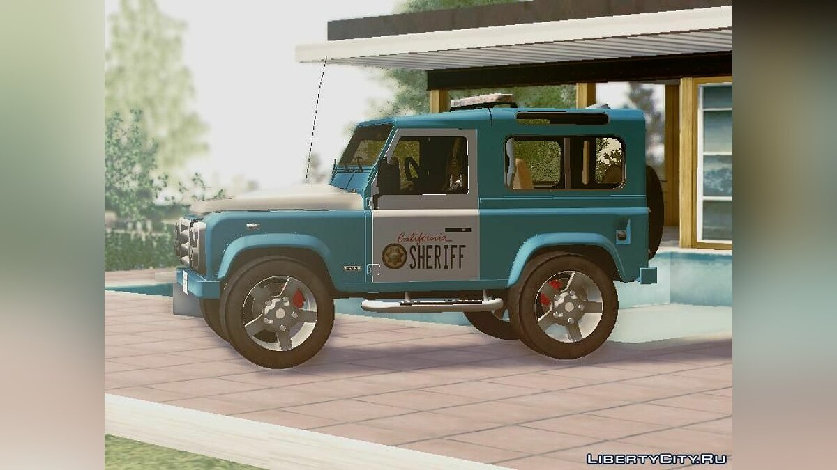 Land Rover Defender Seriff для GTA San Andreas - скриншот #4