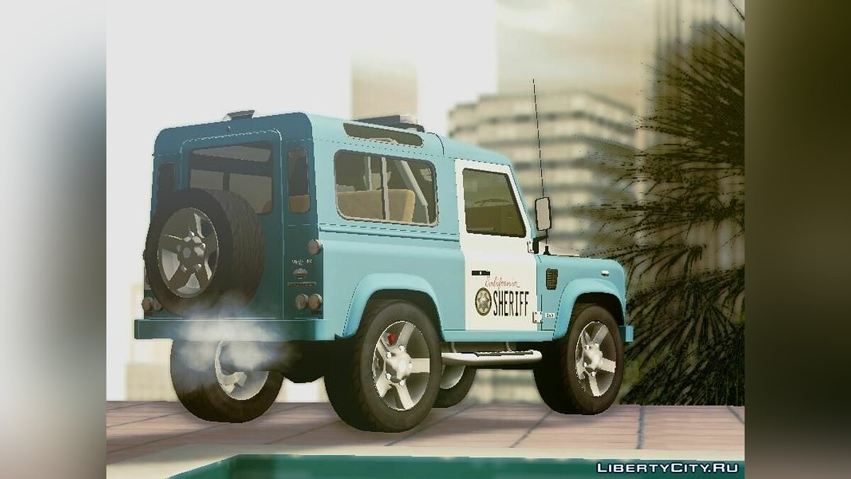 Land Rover Defender Seriff для GTA San Andreas - скриншот #5