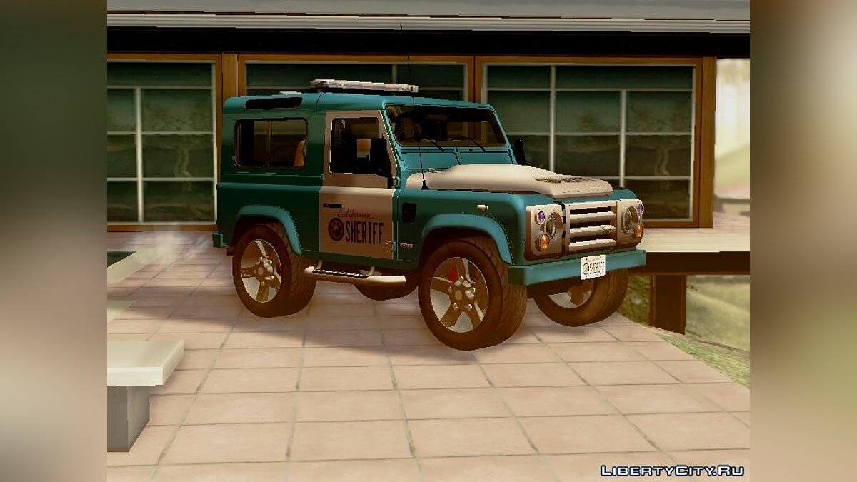 Land Rover Defender Seriff для GTA San Andreas - скриншот #6