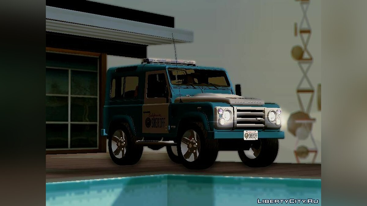 Land Rover Defender Seriff для GTA San Andreas - скриншот #7