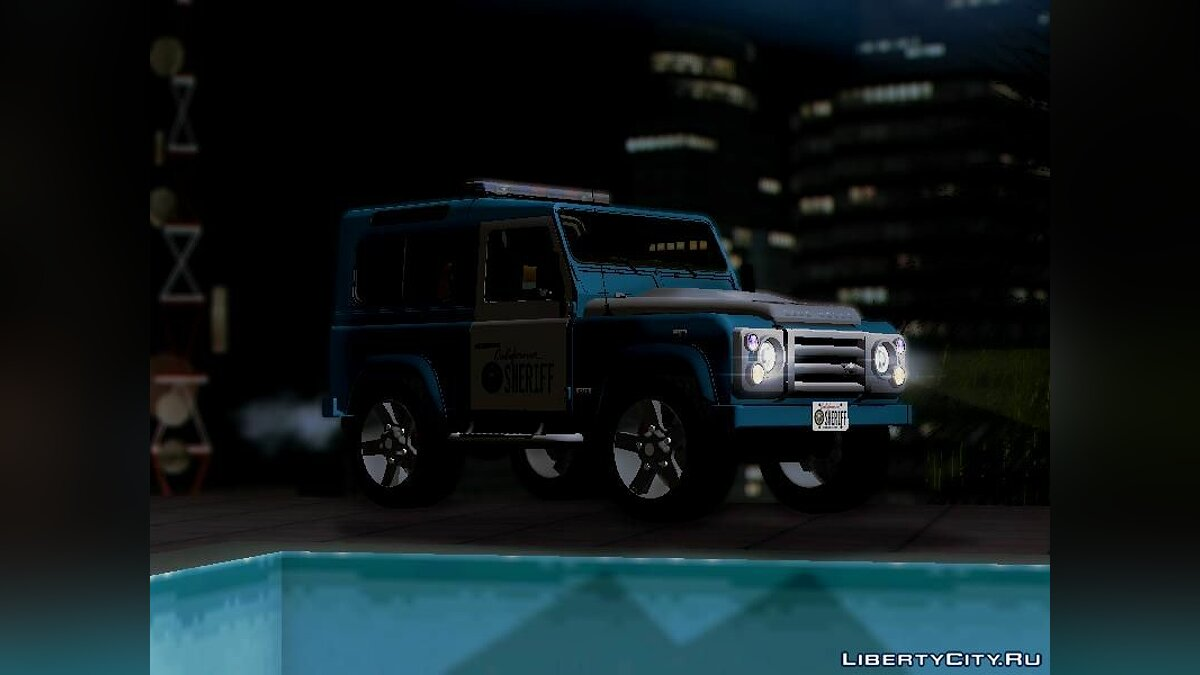 Land Rover Defender Seriff для GTA San Andreas - скриншот #9