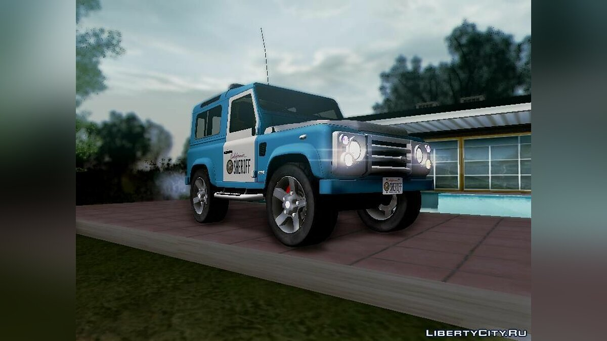 Land Rover Defender Seriff для GTA San Andreas - скриншот #11