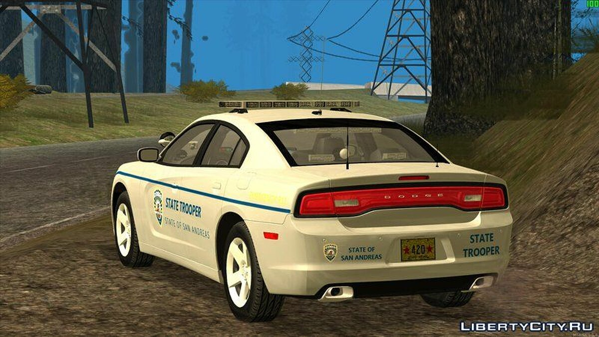 2013 Dodge Charger San Andreas State Troopers для GTA San Andreas - скриншот #2