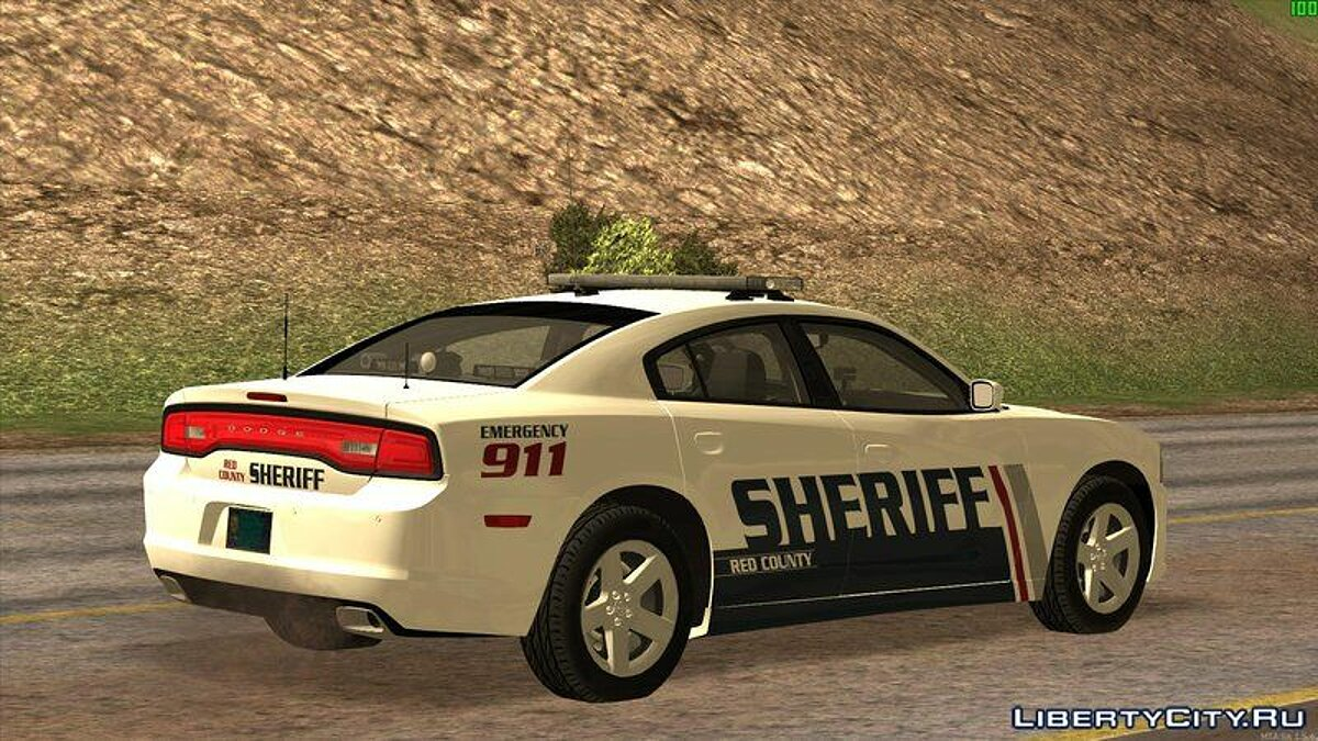 ��ашина полиции 2013 Dodge Charger Red County Sheriff's Office для GTA San Andreas
