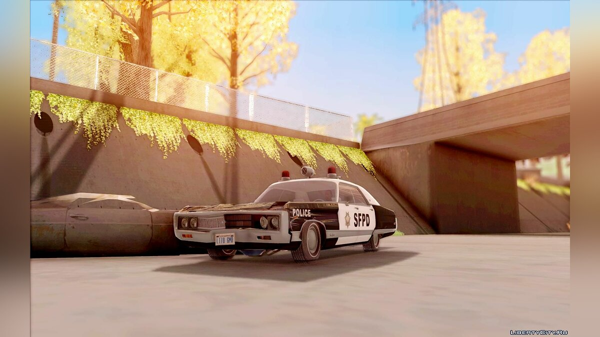 Chrysler New Yorker Police 1971 для GTA San Andreas - скриншот #5