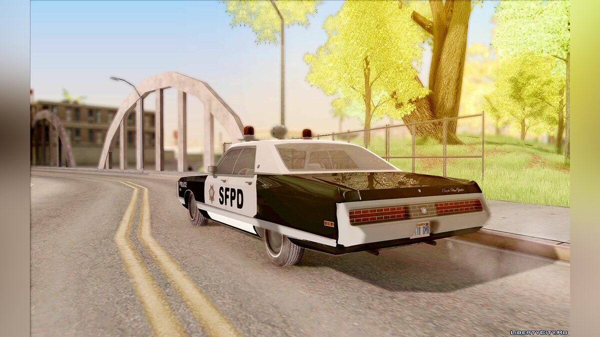 Chrysler New Yorker Police 1971 для GTA San Andreas - скриншот #7