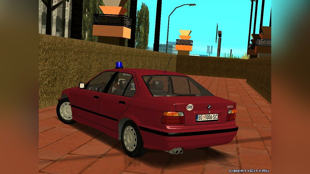BMW 320i e36 Civil Police для GTA San Andreas - скриншот #2