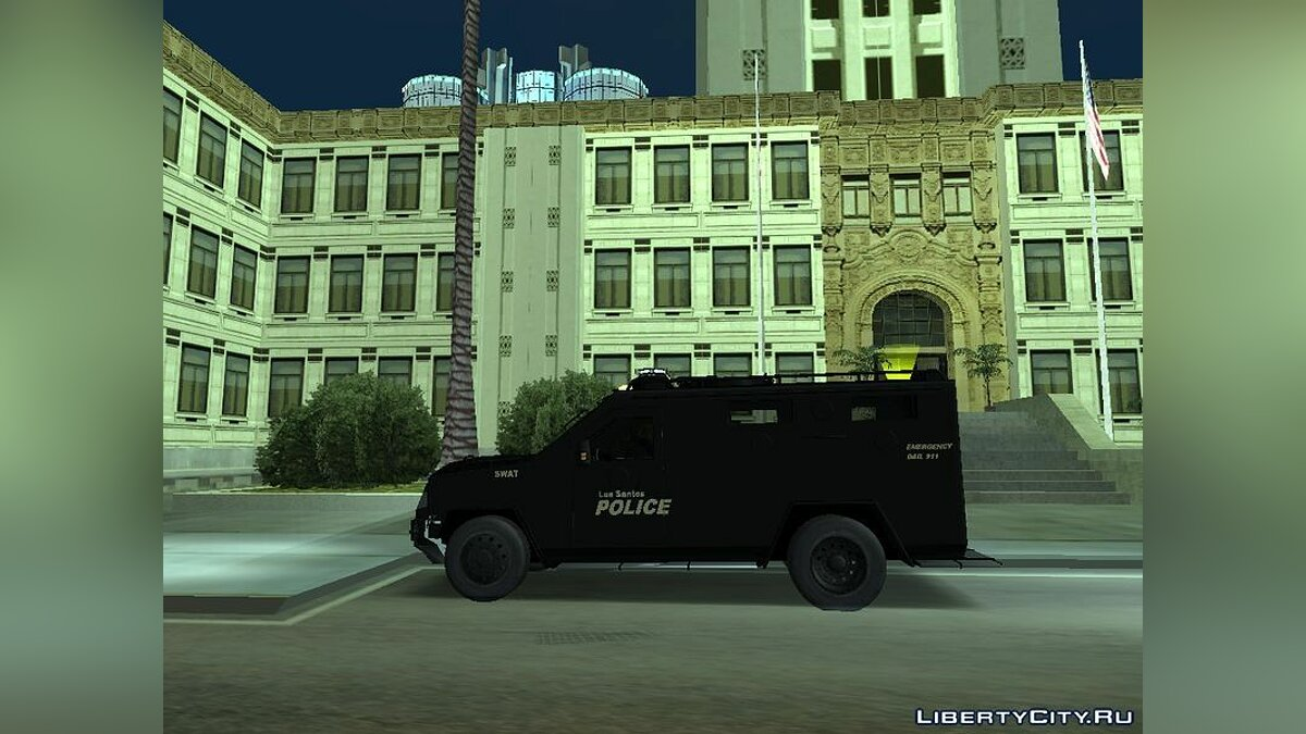 Black LSPD 2009 Lenco Bearcat для GTA San Andreas