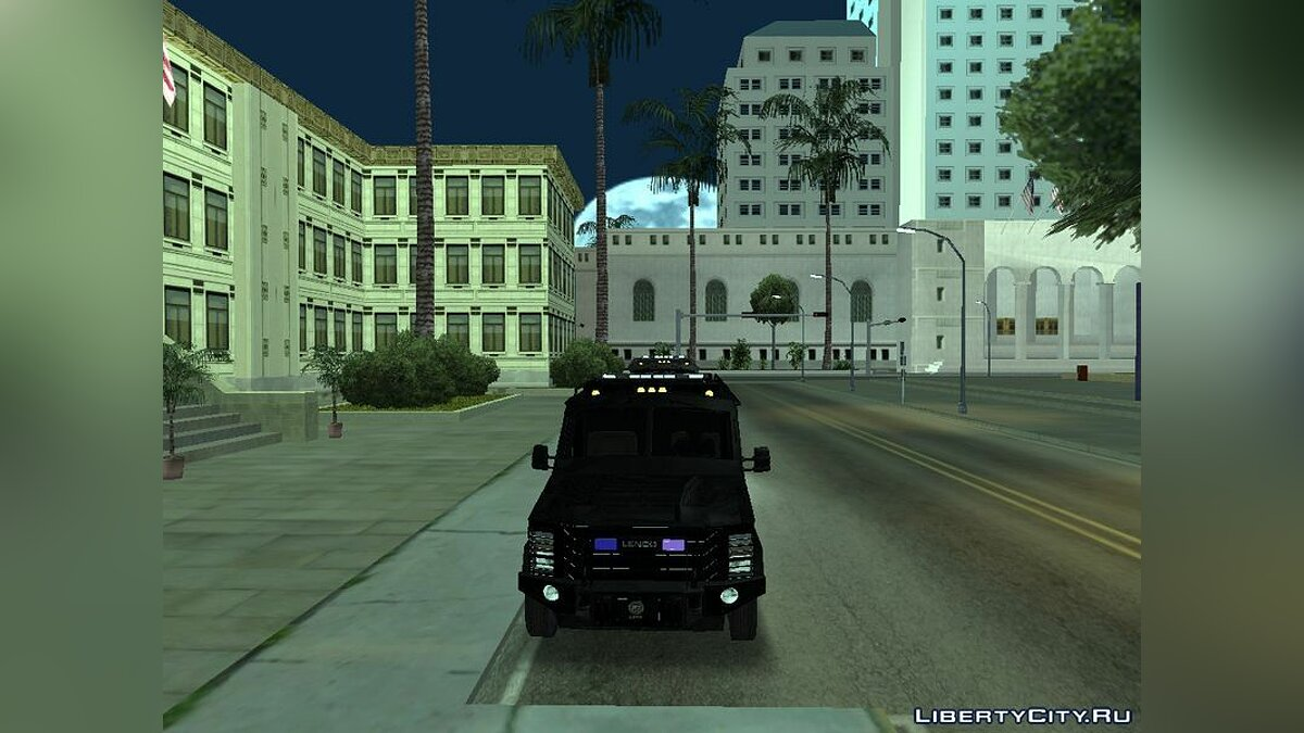Black LSPD 2009 Lenco Bearcat для GTA San Andreas - скриншот #3