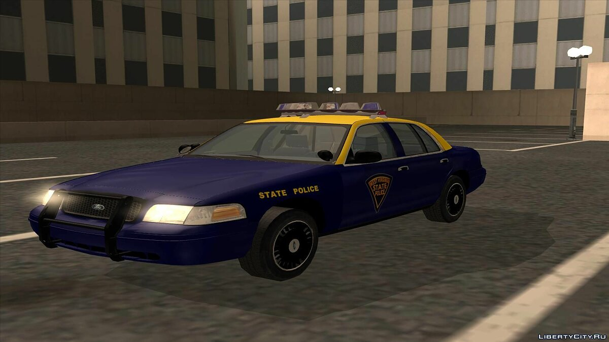 Ford Crown Victoria West Virginia Police для GTA San Andreas - скриншот #2