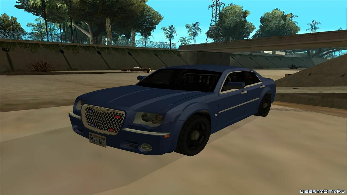 Chrysler 300C 2008 Unmarked Low Poly для GTA San Andreas