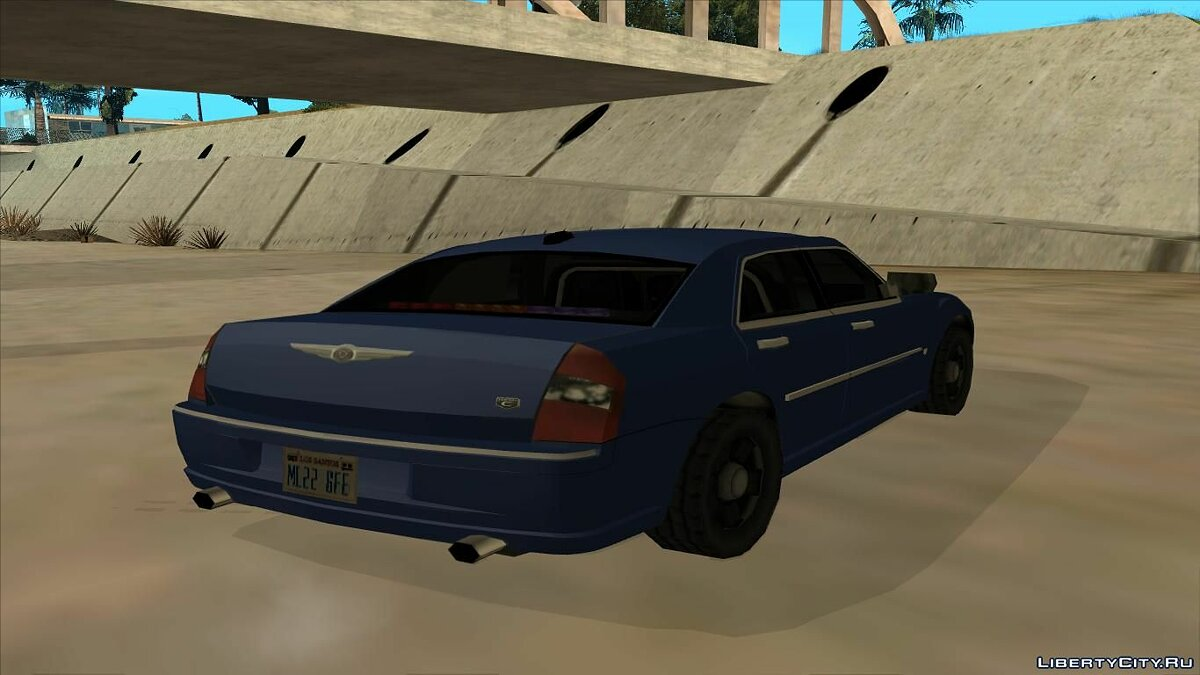 Chrysler 300C 2008 Unmarked Low Poly для GTA San Andreas - скриншот #2