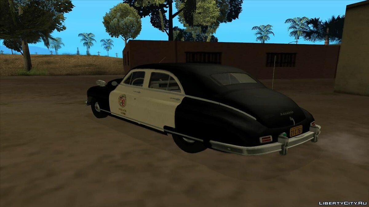 1948 Packard Standard Eight touring sedan police для GTA San Andreas - скриншот #2