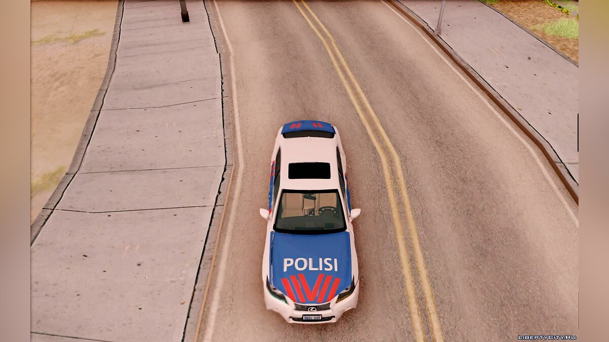 ��ашина полиции Lexus GS-350 Indonesian Police Car для GTA San Andreas