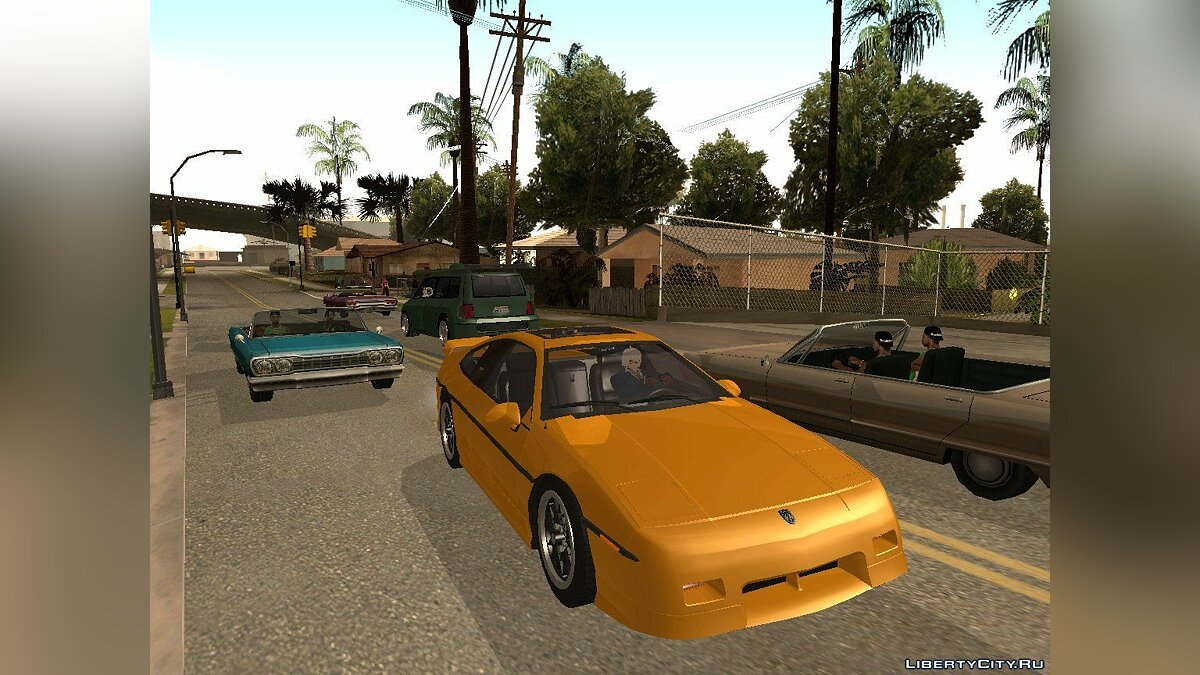 Pontiac Fiero V8 Black Revel для GTA San Andreas