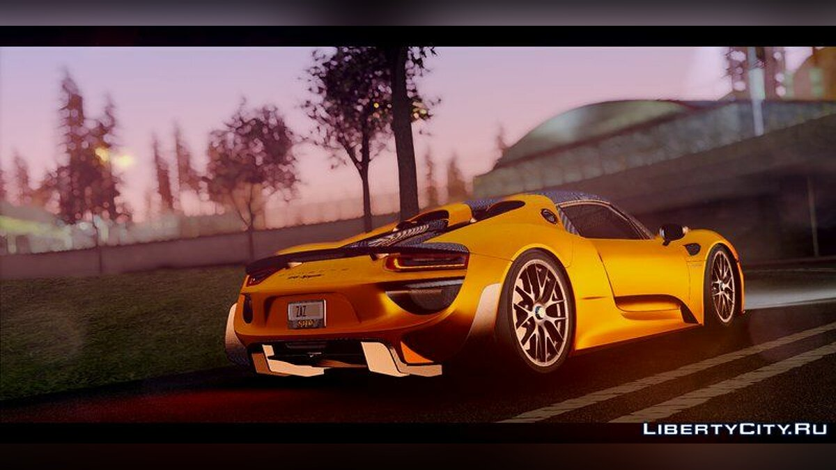 Porsche 918 Spyder Weissach Package 2015 для GTA San Andreas - скриншот #2