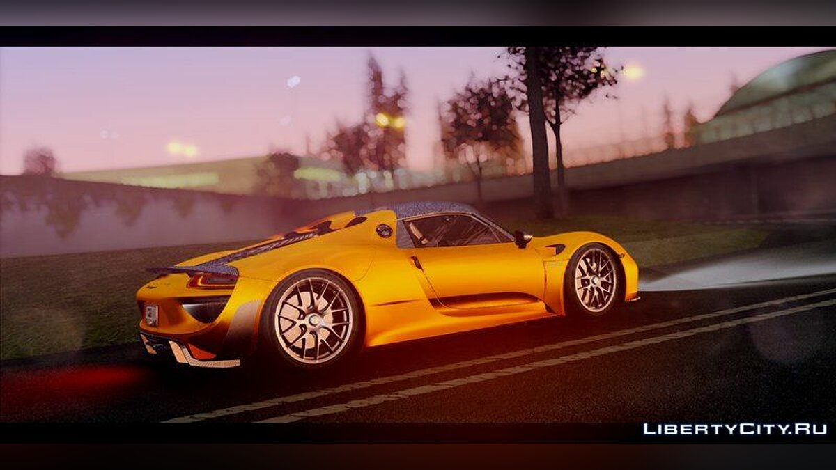 Porsche 918 Spyder Weissach Package 2015 для GTA San Andreas - скриншот #4