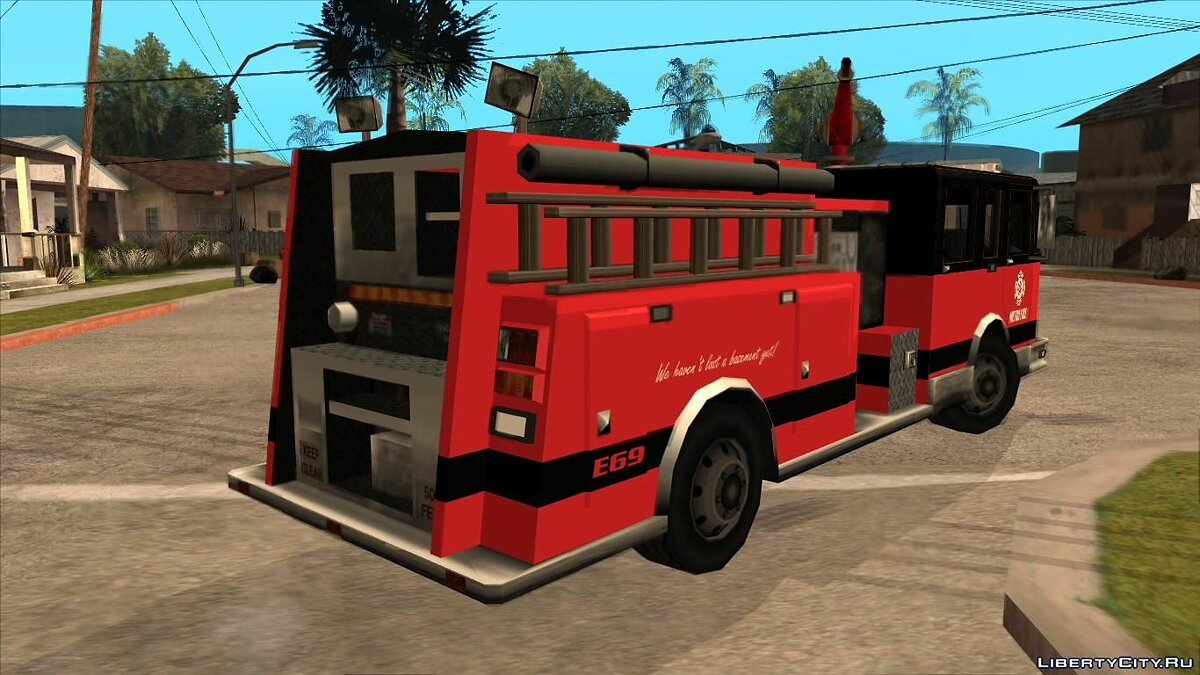Машина Firetruck - Metro Fire Engine 69 для GTA San Andreas