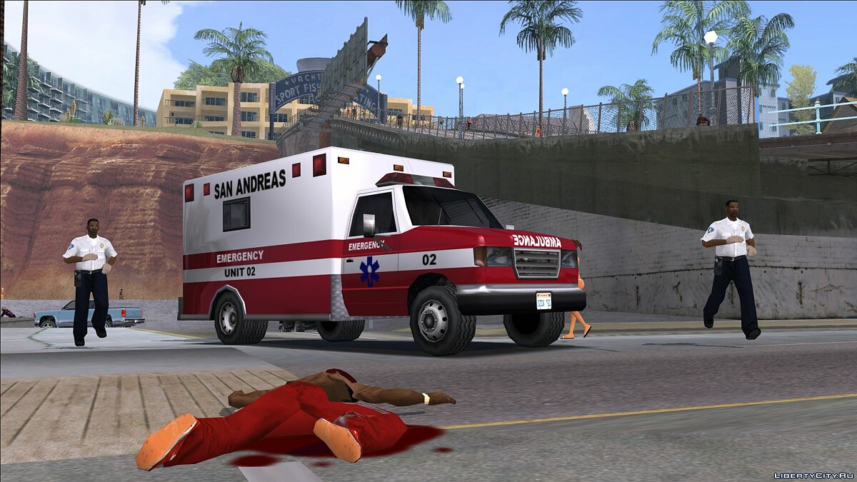 Машина Improved Ambulance для GTA San Andreas