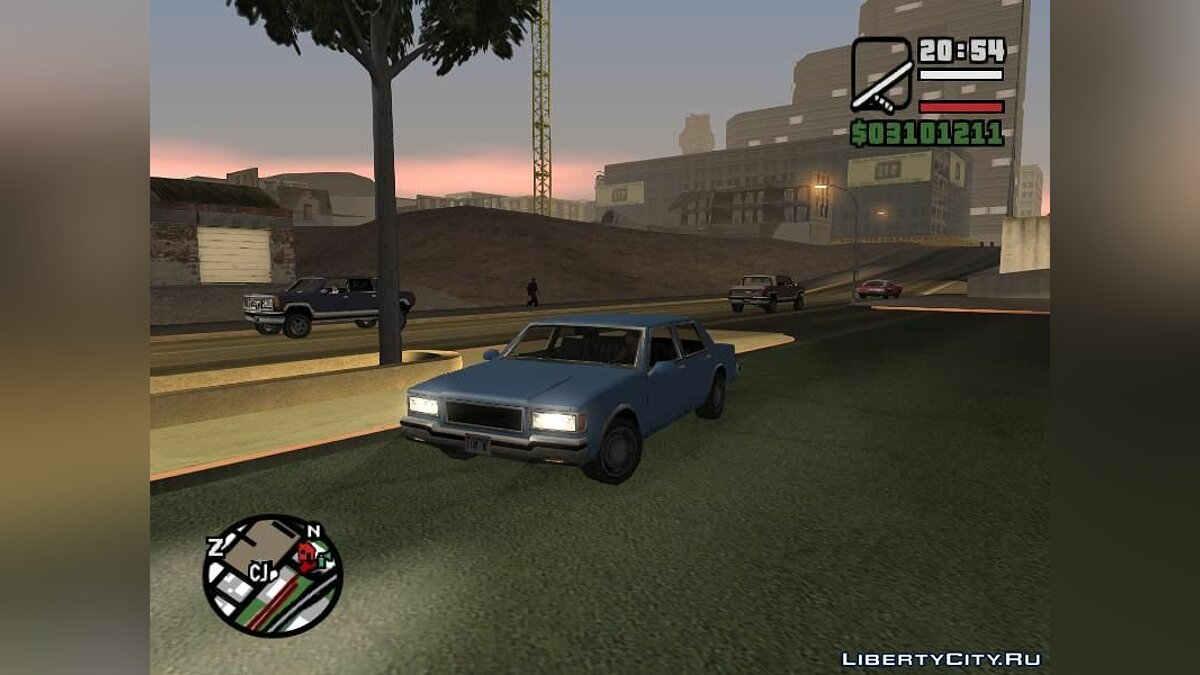 LV Copcar Civil для GTA San Andreas