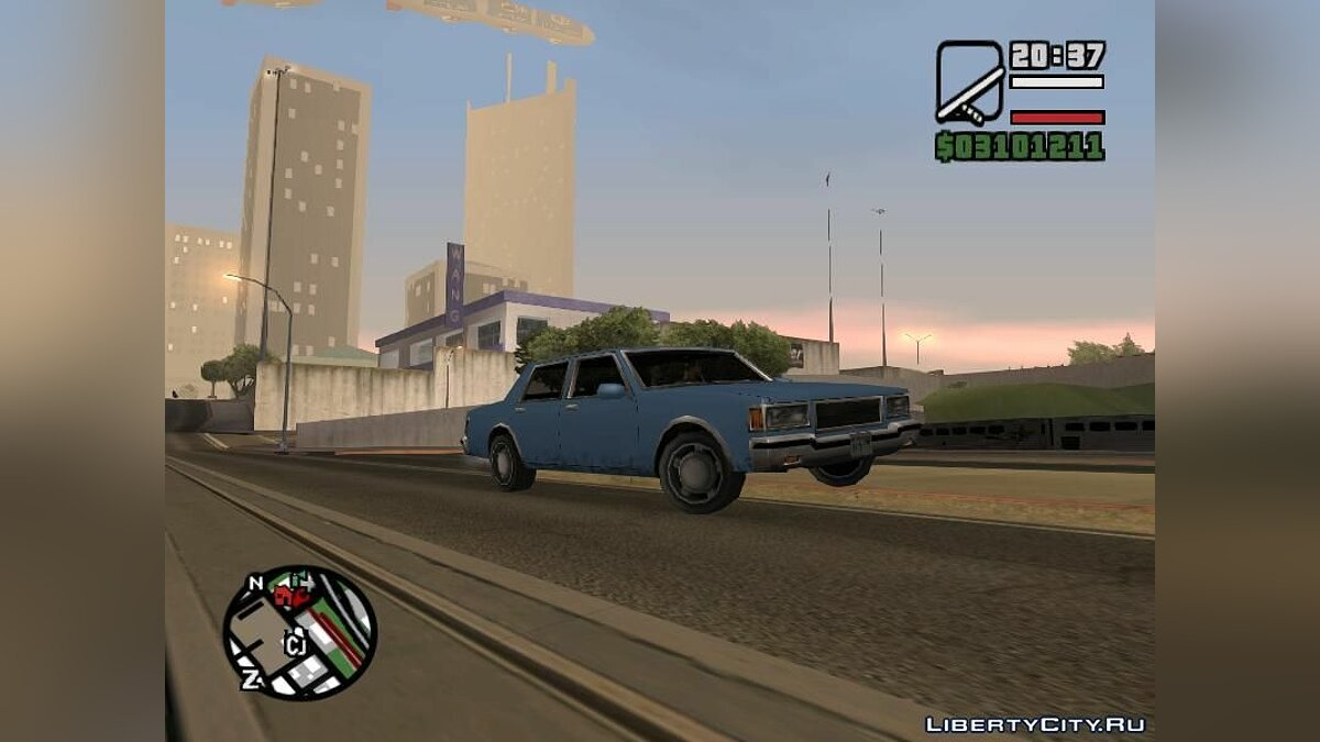 LV Copcar Civil для GTA San Andreas - скриншот #2