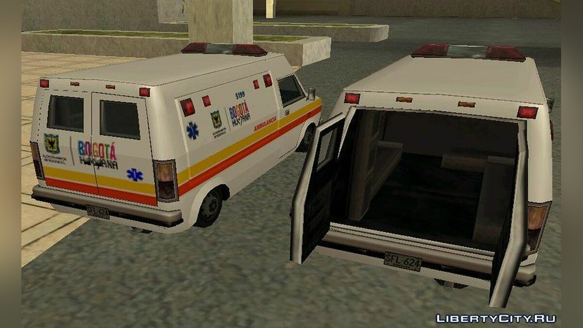 ��ашина Ambulancia Rumpo Colombiana для GTA San Andreas