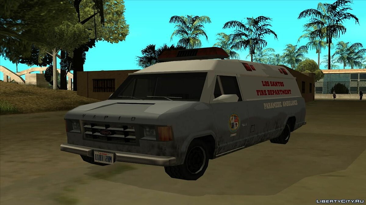 ��ашина 1986 Vapid Steed Ambulance для GTA San Andreas