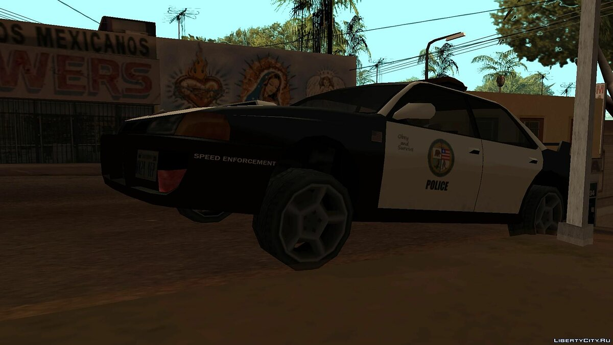 ZR350 and Sultan Police v 1.1 для GTA San Andreas - скриншот #4