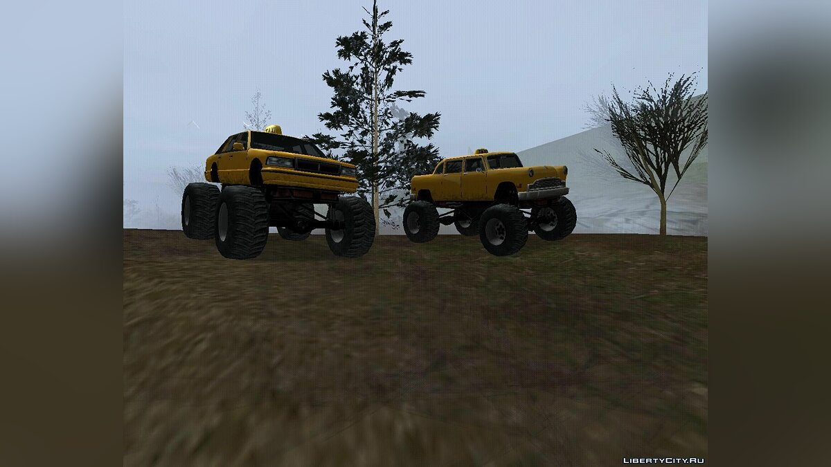 ��ашина Taxi & Cabbie Monster Truck для GTA San Andreas