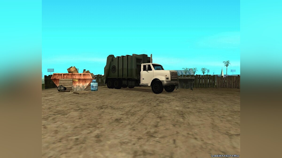 Enterable Trashmaster Fix для GTA San Andreas